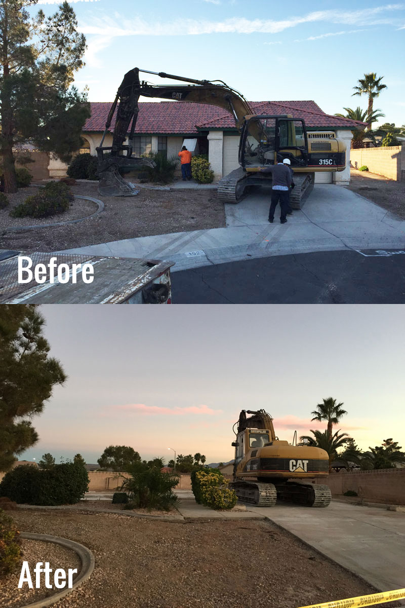 Building Demolition Before And After : Custom home builder las vegas dream construction
