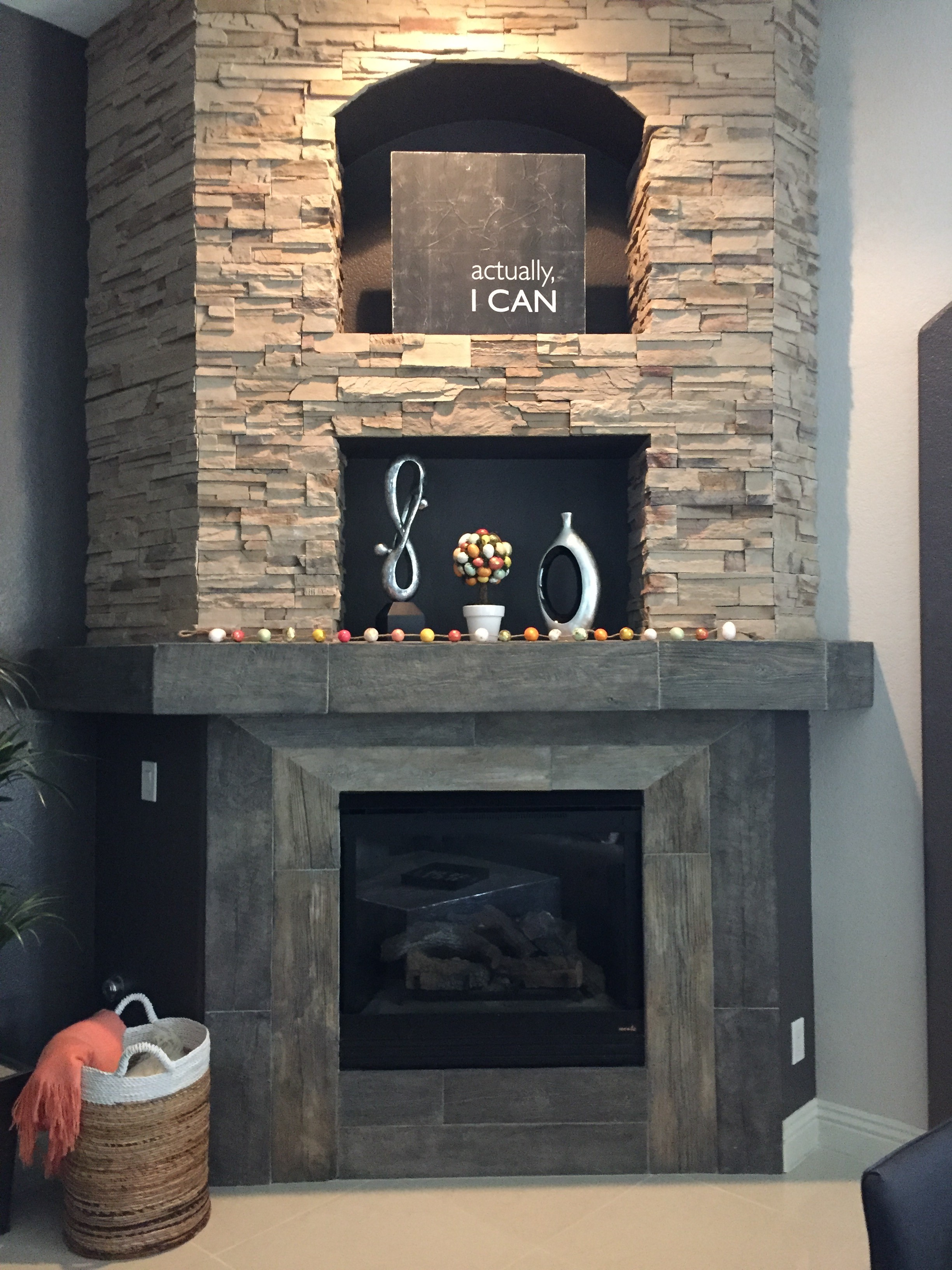 Custom Barn Wood Fireplace
